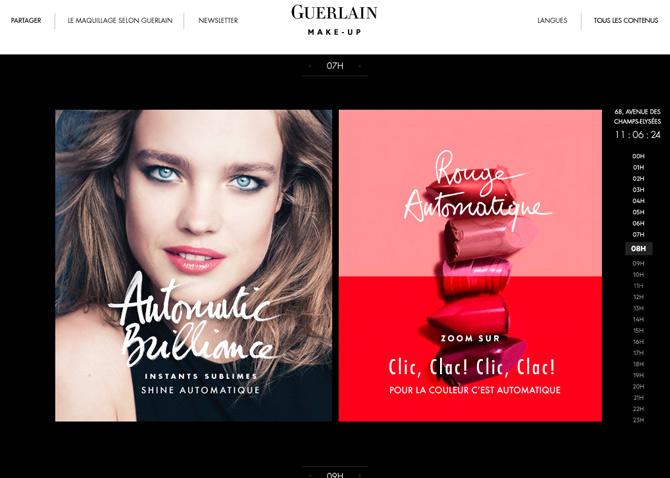 Conception rédaction & stratégie de contenus - plateforme Make up - Guerlain