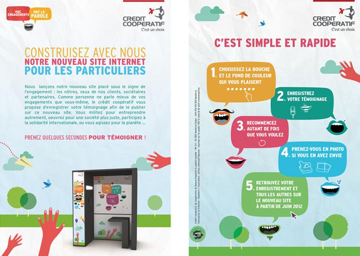 Conception Rédaction - Concept campagne digitale Crédit Coopératif