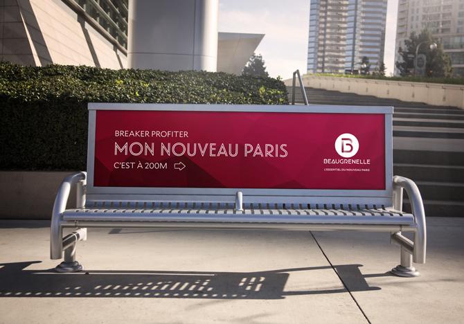 direction de création et concept pour la nouvelle plateforme de marque du centre commercial beaugrenelle